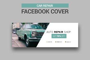 Car Repair Facebook Cover - SK