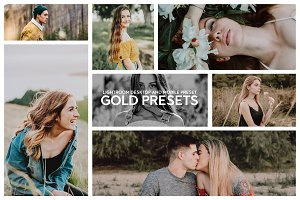 GOLD MOBILE & DESKTOP LR PRESETS