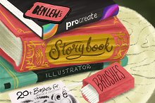 Storybook Illustrator for Procreate by  in Brushes