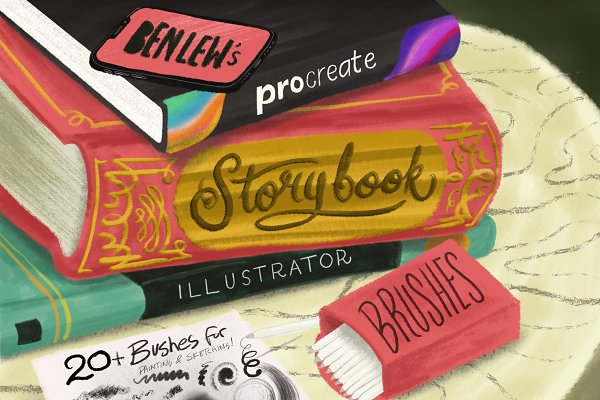 Photoshop Brushes: Ben Lew Illustration - Storybook Illustrator for Procreate