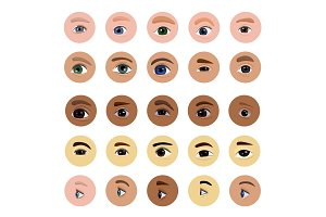 Eye vector human eyesight vision