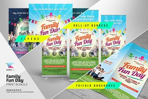 kids summer camp flyers flyer templates creative market. Black Bedroom Furniture Sets. Home Design Ideas