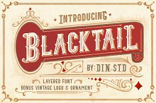 Blacktail Font - INTROSALE 25% by  in Display Fonts