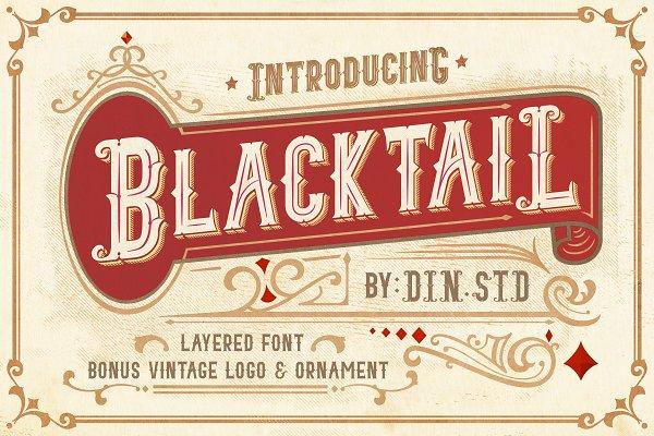 Display Fonts: Din Studio - Blacktail Font - INTROSALE 40%
