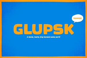 Glupsk – A Fat Sans Serif