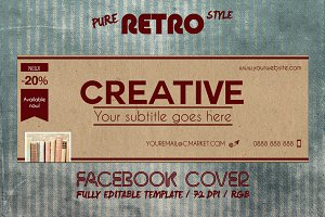 RETRO PAPER - facebook cover