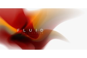 Mixing liquid color flow abstract