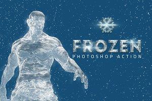 Frozen Ice Photo Effect