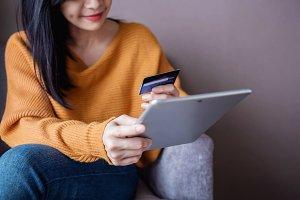 Happy Customer using Credit Card