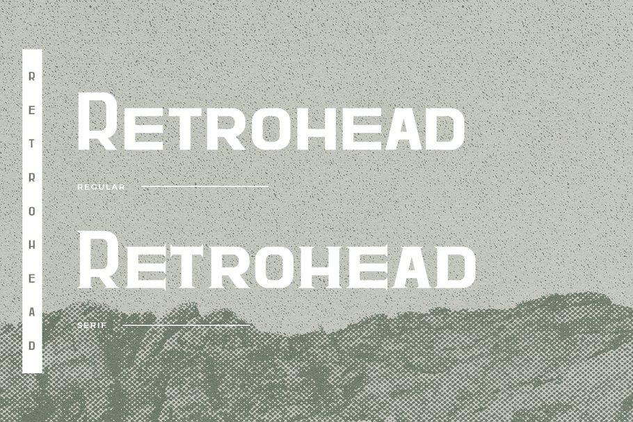 Retrohead Vintage Font | Typeface