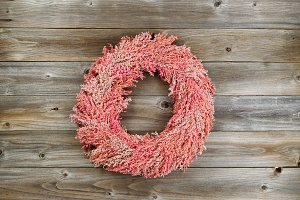 Wreath made with Sorghum Grass