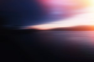 Motion blur sunset on river with dra