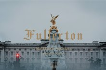 Fullerton typeface font by  in Blackletter Fonts