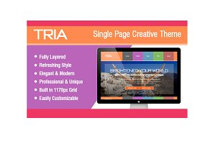 TRIA - Single Page PSD Theme