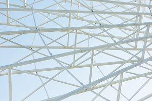 metallic parts of observation wheel