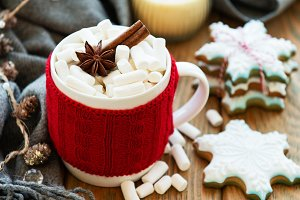 hot chocolate with marshmallows and