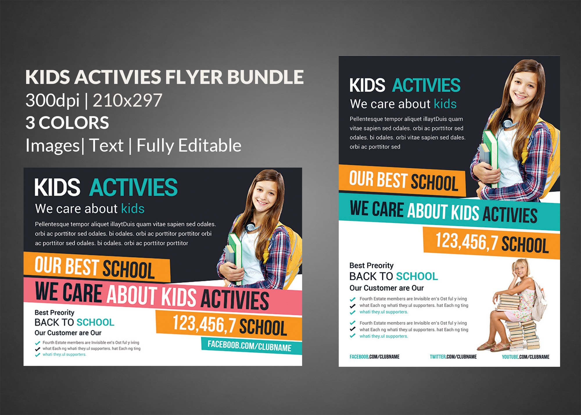 charity donation flyer template flyer templates on creative market school education flyer templates