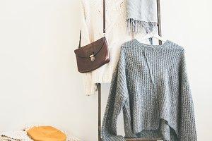 Fashionable female winter clothing