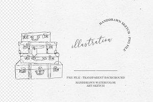 Suitcase Illustration Clipart