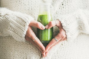 Winter seasonal smoothie drink detox