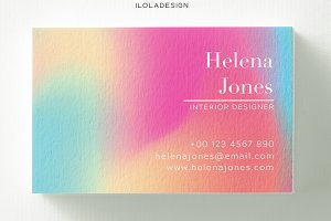 Holo Gradient Business Card