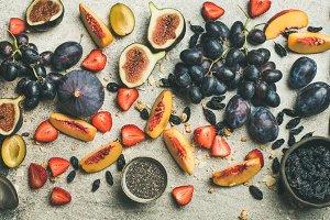 Greek yogurt, fresh fruit and chia