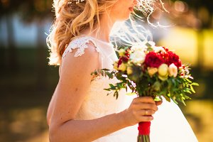 beautiful young bride in the garden
