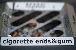 Cigarette ends & gum