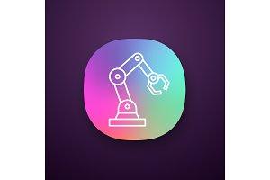 Industrial robotic arm app icon