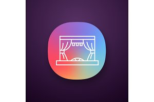 Theater stage app icon