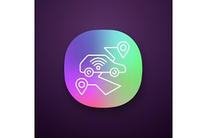 Self driving car app icon