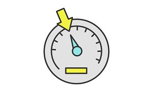 Speedometer color icon