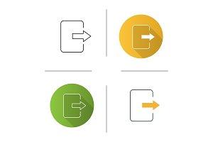 Exit button icon
