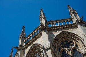 Church Spires in Sky