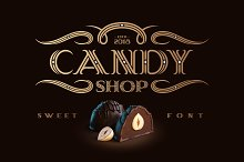 Candy Shop font with bonus by  in Display Fonts