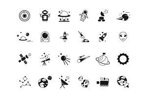 Explorer space icons. Telescope