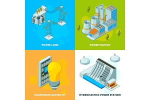 Energy power stations. Electrical