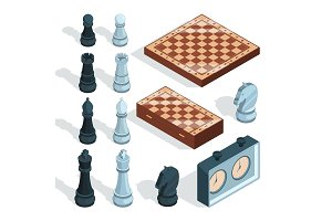 Chess board game. Strategical