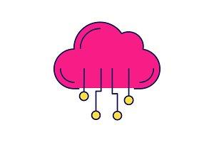 Cloud computing color icon