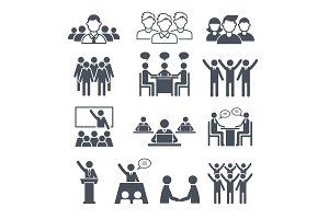 Corporate team icons. Professional