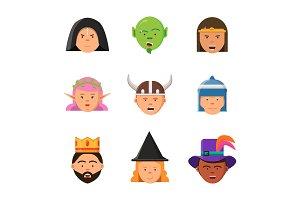 Fantasy game avatars. Fairy tale