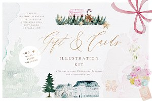 Watercolor Christmas Card Creator