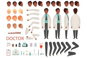 Medic animation. Doctor characters