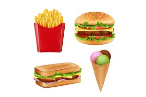 Fast food pictures. Hamburger