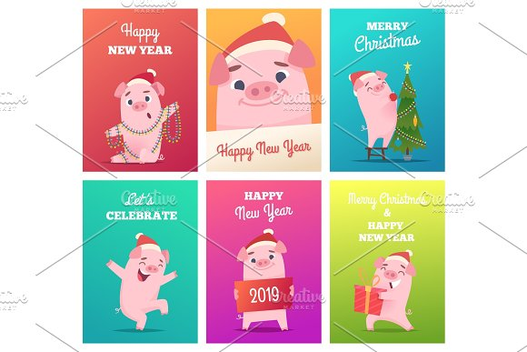 new year cards template celebration graphics
