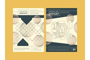 Annual report cover. Business