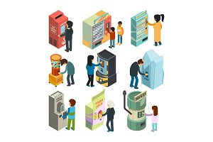 Vending machine isometric. Snack
