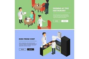 Restaurant interior. Food kitchen