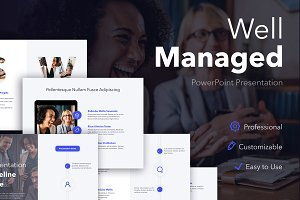 Well Managed PowerPoint Template