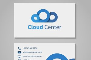 Cloud computing center business card